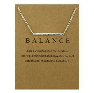 Jewelry - Balance Silver Band Chain Necklace